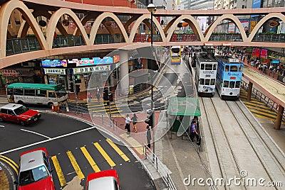 Hong Kong Transportation Editorial Image