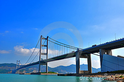 Hong kong tsing ma bridge