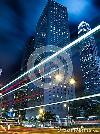 Hong Kong Urban Traffic at Night