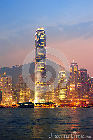 Hong Kong Victoria Harbor morning