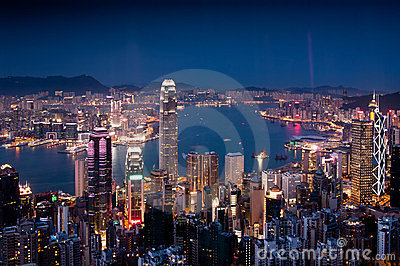 Hong Kong Victoria Harbour Editorial Photo