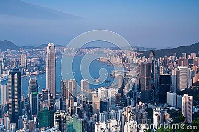 Hong Kong Victoria Harbour Editorial Image