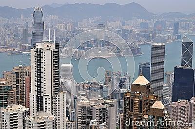 Hong Kong view Editorial Stock Photo