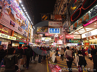 Hong Kong view: Mong Kok Editorial Photo