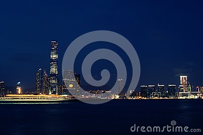 Hong Kong western Kowloon night view