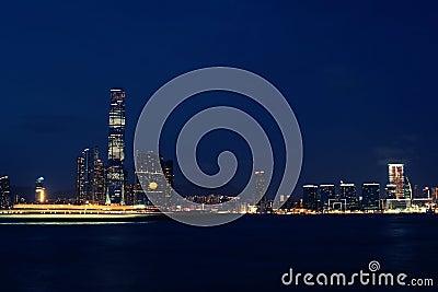 Hong Kong western Kowloon night view