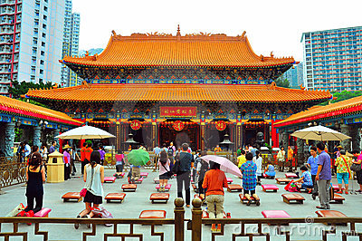 Hong kong wong tai sin temple Editorial Stock Image