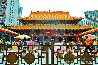 Hong kong wong tai sin temple Editorial Photography