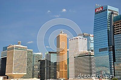Hongkong business and bank buildings Editorial Image
