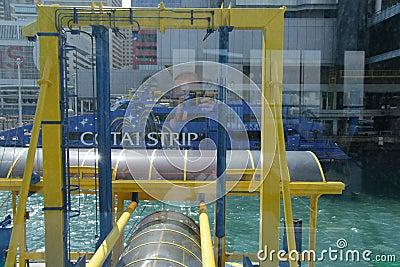 Hongkong Central Pier Editorial Photo