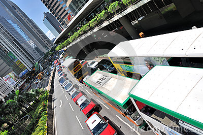 Hongkong city center traffic Editorial Stock Photo