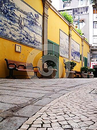 Hongkong old town street