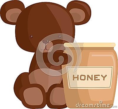 Honig und Bärenjunges