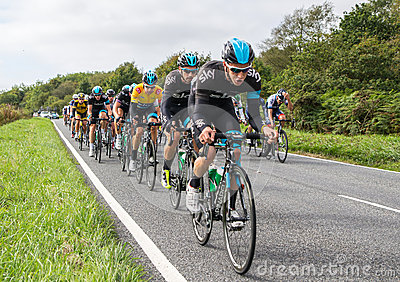 2013 Tour of Britain Cycle Race Editorial Stock Image