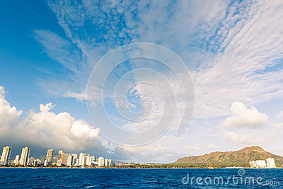 Honolulu City Skyline from Water
