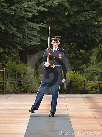 Honor Guard at Arlington Cemetery Editorial Stock Image