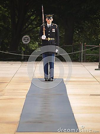 Honor Guard at Arlington Cemetery Editorial Image