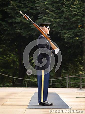 Honor Guard at Arlington Cemetery Editorial Stock Image