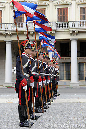 Honor Guard at Montevideo Editorial Stock Image