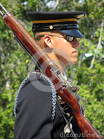 Honor Guard With Rifle Editorial Image
