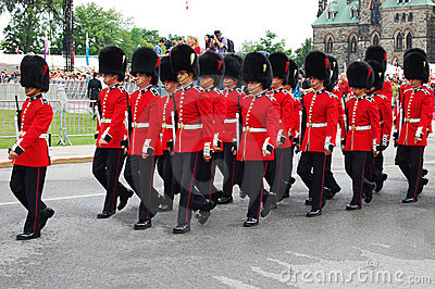 Honor Guards on Canada Day at Parliament Hill Editorial Stock Image