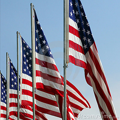 Free Honoring Fallen Heroes - American Flags On Memorial Day Stock Photography - 333312