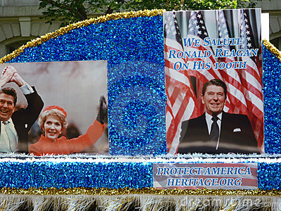 Honoring Ronald Reagan Editorial Stock Image