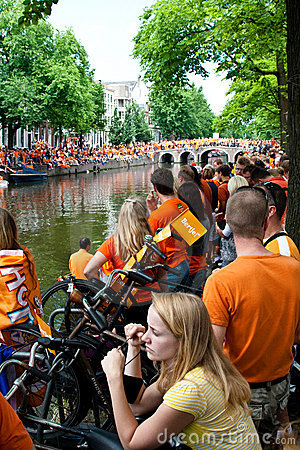 Honouring of the Dutch soccer team Editorial Stock Image