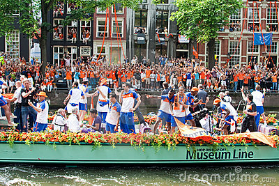 Honouring of the Dutch soccer team Editorial Image
