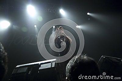 Hoobastank Live Concert in Jakarta Editorial Stock Photo
