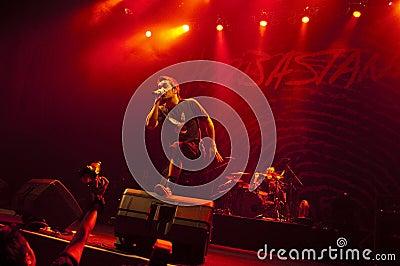Hoobastank Live Concert in Jakarta Editorial Stock Image