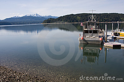 Hood Canal Washington with Olympic Mountains