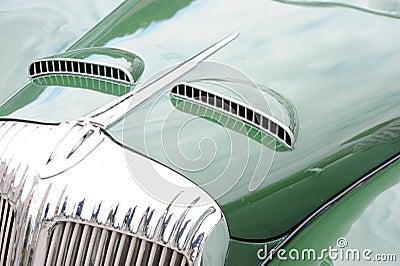 Hood of classic car