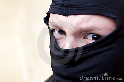 Hooded angry teenager