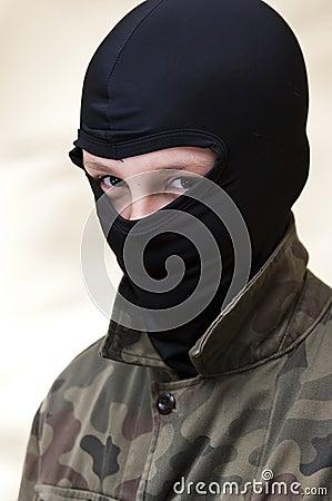 Hooded angry teenager