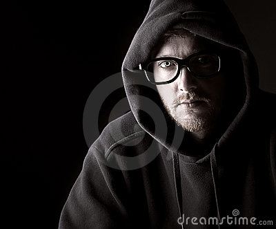 Hooded Geeky Male