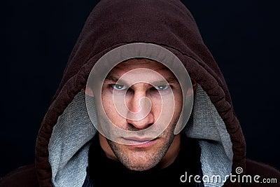 Hooded man