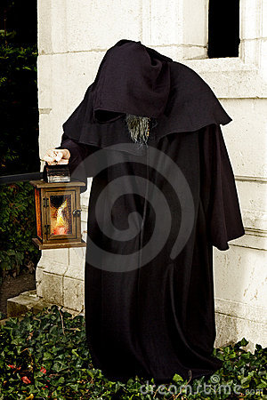 Hooded monk