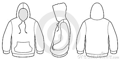 hooded sweater template vector illustration royalty free stock photo
