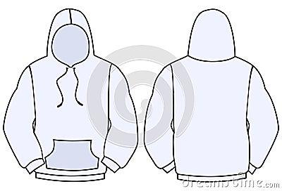 Hoodie vector template