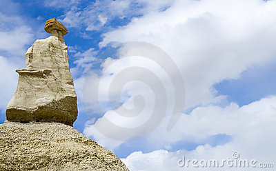 Hoodoo at Bisti Badlands