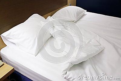 Hoofdkussens en deken
