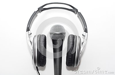 Hoofdtelefoons en microfoon