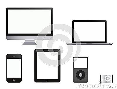 HOOG - de inzameling van de Producten van technologie Redactionele Stock Afbeelding