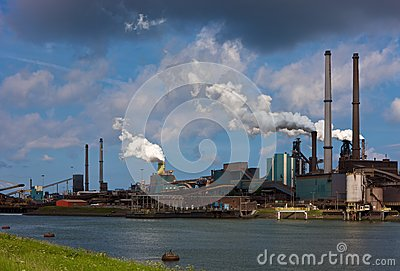 Hoogovens steel factory