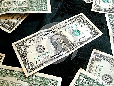 Hoogtepunt van de Amerikaanse Dollar van het Geld op zwarte