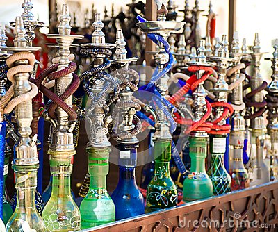 Hookah in souvenir shop