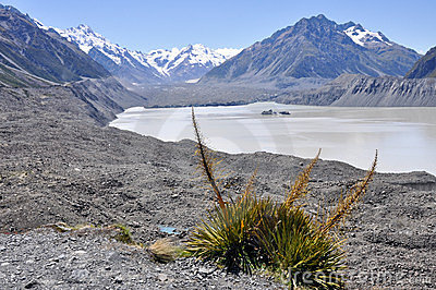 Hooker lake, New Zealand