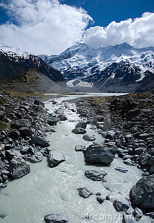 Valley and Mount Cook