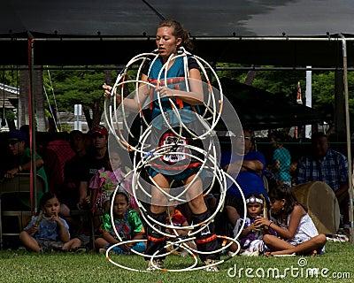 Hoop Dancer Editorial Stock Image